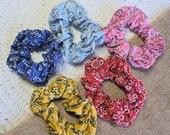 Paisley Pattern Scrunchies