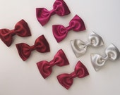 Bow Clips, Glitter Bow Clip, Pair of clip
