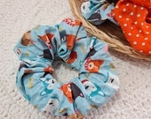 Set of 2 Scrunchies, Dog Pattern Scrunchies