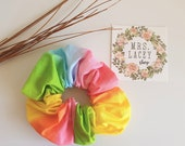 Rainbow Cotton Scrunchies