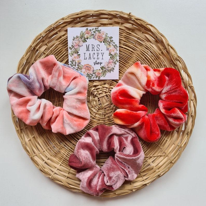 Tie Dye Scrunchies Velvet Scrunchies image 0