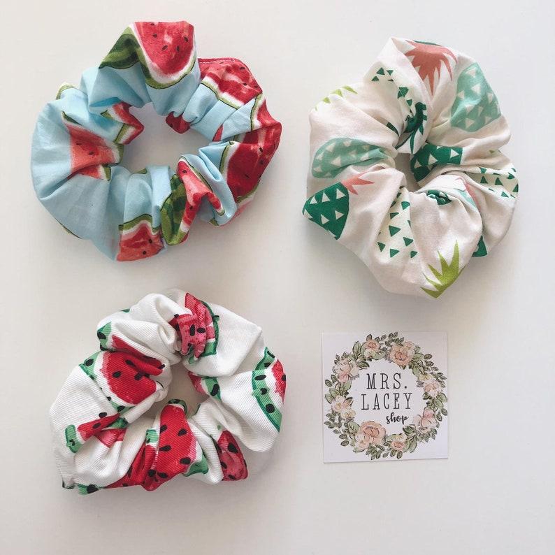 Cotton Scrunchies Fruit Scrunchies image 0