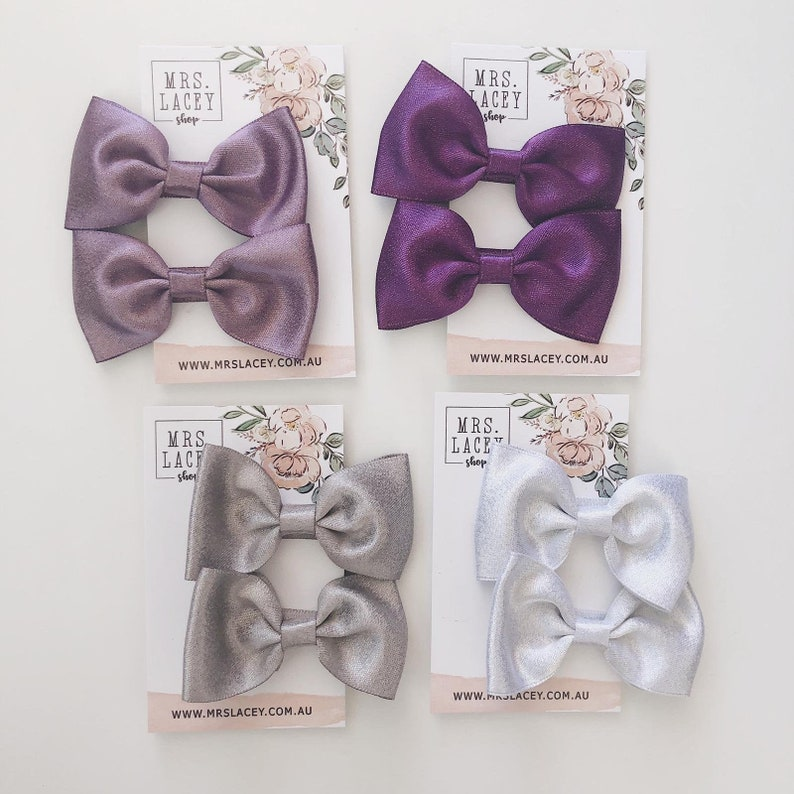 Bow Clips Glitter Bow Clip Pair of clip image 0