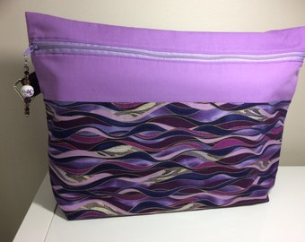 Purple waves Project Bag