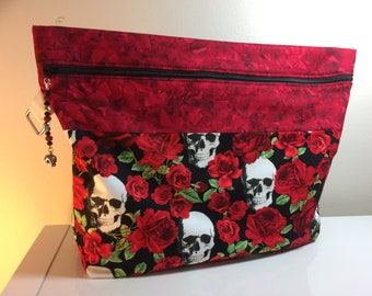 Skull and Roses Project Bag