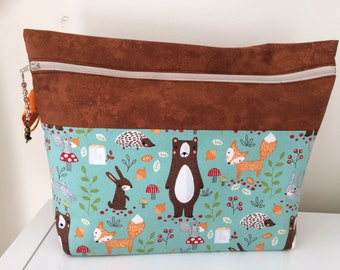 Cute Woodland Creature Project Bag