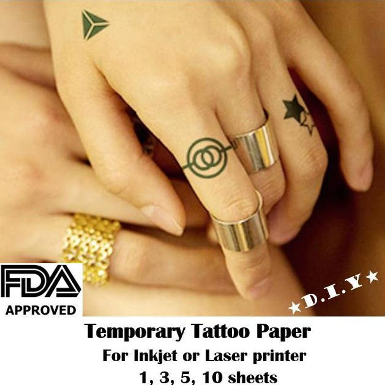 picture regarding Printable Temporary Tattoo Paper identified as Do-it-yourself Momentary Tattoo Paper, Inkjet Laser Printers, Food and drug administration accredited, Children exciting, Halloween, Birthday present, produce your private tattoos, higher education employees emblem
