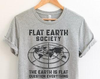 534ab4ab Flat earth t shirt | Etsy