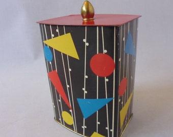 Vintage Coffee Tin Sträter Coffee 1950 's Rockabilly decor Boho Decor
