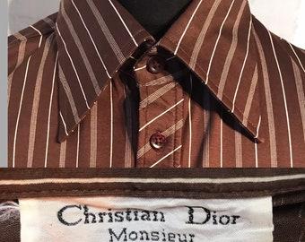 facd8d3dd8aa Chemise s s VTG des années 70 Christian Dior
