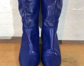 a4df5752466e1 Blue leather boots | Etsy