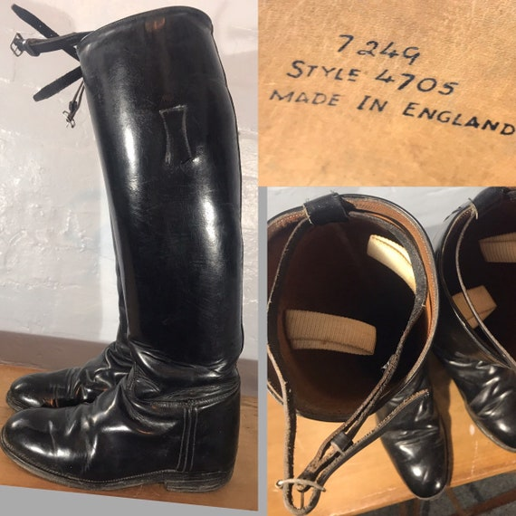 Riding boots-60s-made in england - image 1