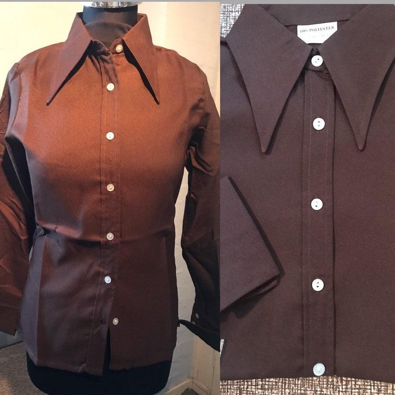 70s shirt-dagger collars brand new dead stock