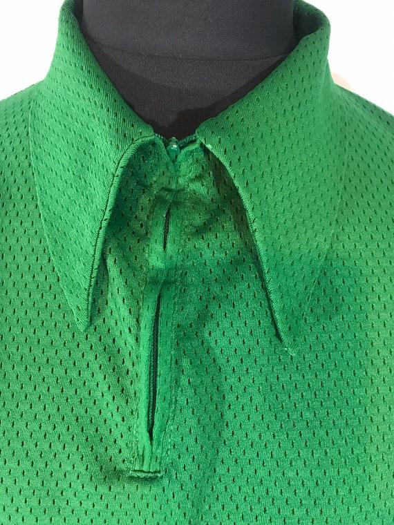 "Vtg US Sports shirt-Zip-dagger collars ""Sand knit"