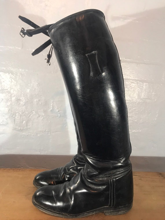 Riding boots-60s-made in england - image 2
