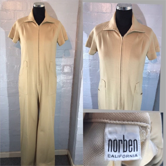 Vtg 70s jump suit - all in 1 - Norben California