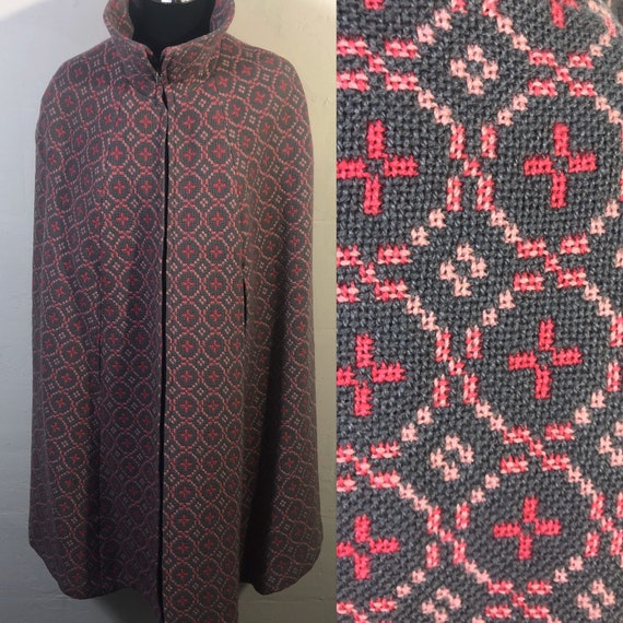 Welsh Tapestry Cape-welsh wool-woven in Wales-100%