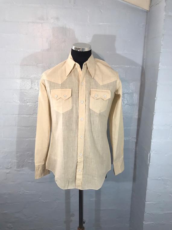 Vtg 70s shirt new dead stock dagger collars made i