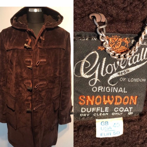 Vtg Duffle Gloverall  of London Original Snowdon D