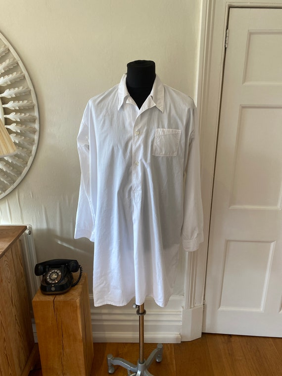 Vtg mid cent French work cotton shirt