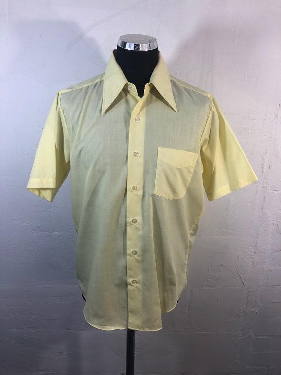 Vtg 70s mens shirt dagger collars - David Harrison
