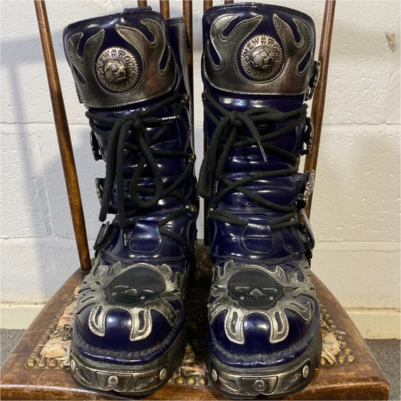 """Vtg 90s New Rock Boots""""Reactor"""" made in Spain"""