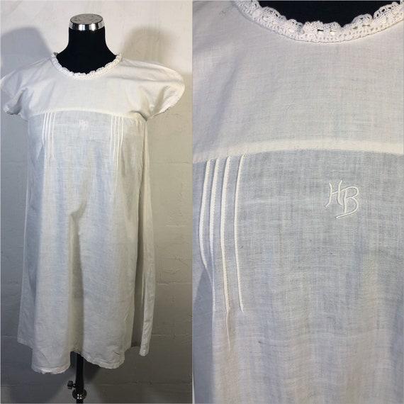 Antique linen french dress-night slip