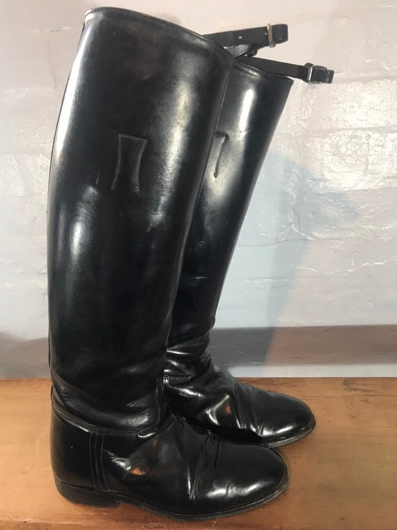 Riding boots-60s-made in england - image 9