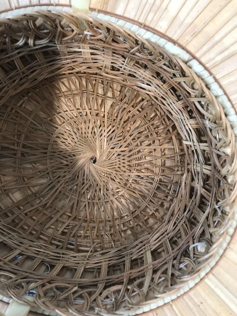 Vietnamese style Vtg Bamboo-straw farmers hat