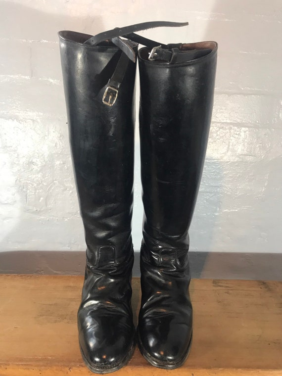 Riding boots-60s-made in england - image 7