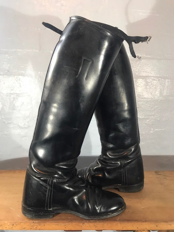 Riding boots-60s-made in england - image 5