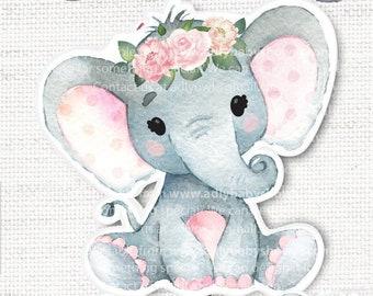 Elephant Baby Shower Centerpiece Etsy