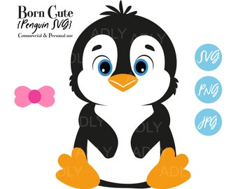 Penguin Illustrator Penguin Png Penguins x100 BUNDLE SvgEpsDxfPng Penguin Silhouette Penguin Svg Penguin Inkscape Penguin Cut File