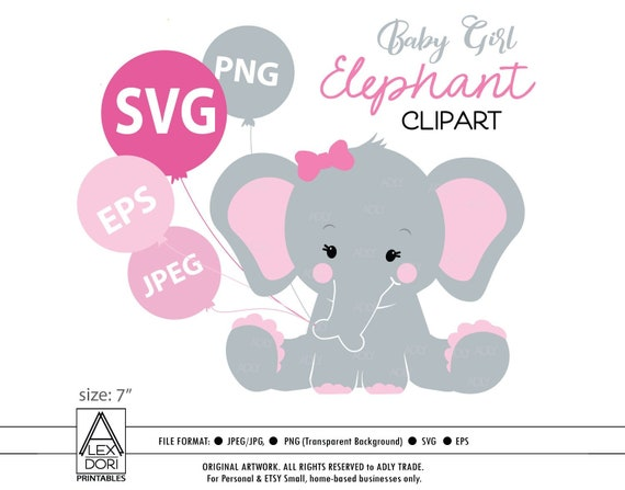 Elephant Svg For Cricut Baby Girl Elephant Cute Little Peanut Etsy
