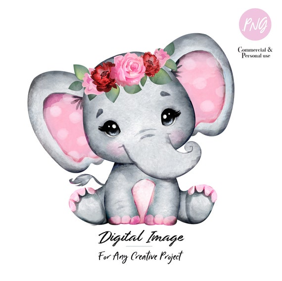 Maroon Pink Floral Crown Baby Girl Elephant Png Clipart Etsy Baby elephant transparent images resolution: maroon pink floral crown baby girl elephant png clipart sublimation for any project birthday babyshower