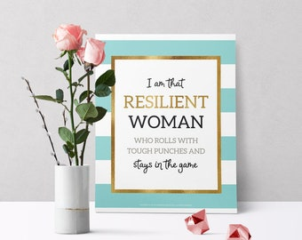 Gifts for Her Inspirational Quotes Kate Spade Inspired Wall Decor Positive Quote Home Décor Motivational Quote  Confidence