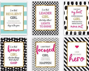 Back to School Gifts for Girls Room Decor Growth Mindset Positive Quotes Inspirational Quotes Motivational Kate Spade Inspired