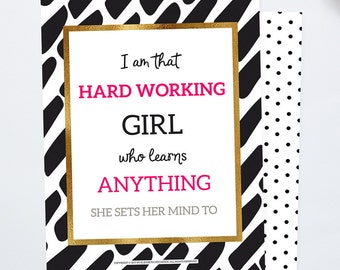 Back to School Gifts for Girls Growth Mindset Inspirational Quotes Girls Room Decor Positive Quote Best Friend Gift