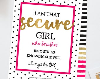 Inspirational Quotes Positive Quotes Motivational Prints Home Décor Wall Quotes Girls Confidence Dorm Wall Art Back to School