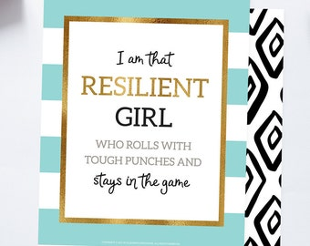 Gifts for Girls Modern Wall Art Kate Spade Inspired Inspirational Quote Motivational Quote Positive Quote