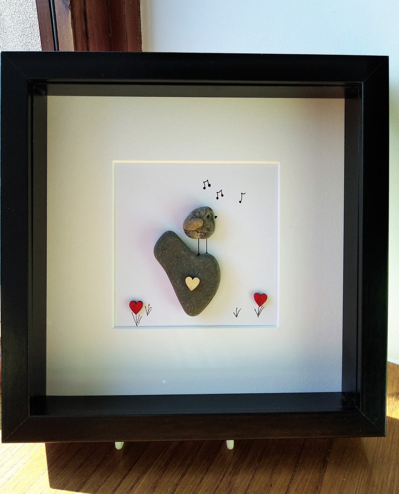 Pebble Art Picture Nan Grandma Grandad Gift Birthday Personalised Handmade