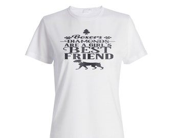 Boxers are a Girls Best friend Ladies T-shirt v970f