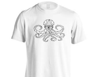Octopus Ocean Geometric Men's T-Shirt r105m