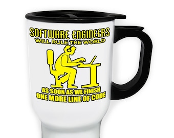 Software Engineer Will Rule the World Stainless S Travel 14oz Mug aa185t