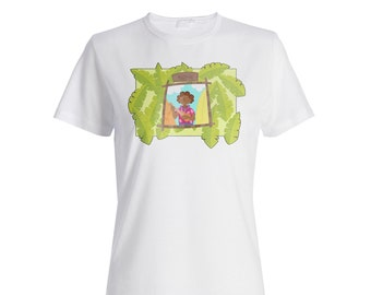 New Aloha Hawaiian Mask Beach Ladies T-shirt h994f