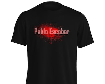 Pablo Escobar Blood Medellin in Red Men's T-Shirt p18m