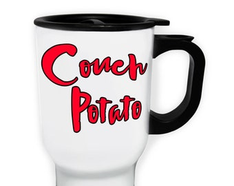 Couch Potato Stainless S Travel 14oz Mug b995t