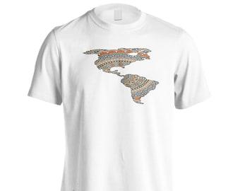 America Mandala Style Men's T-Shirt p285m