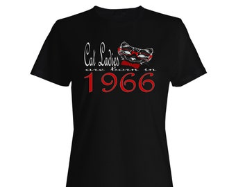 Cat Ladies Are Born In 1966 Ladies T-shirt b803f