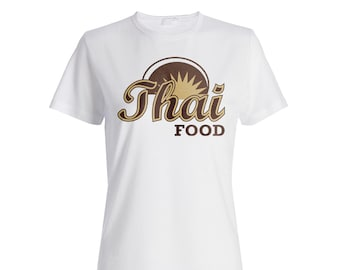 Hand Made Thai Food Ladies T-shirt m857f
